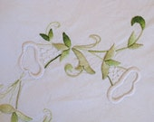 SALE gorgeous hand embroidered French sheet
