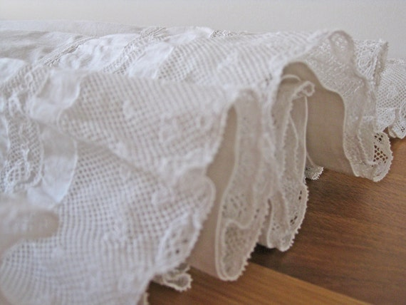 Victorian French petticoat underskirt handmade lace