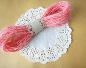 Coral Pink Jute Twine, String, Yarn for Crafting, Gift wrapping, Packaging, Wedding favors