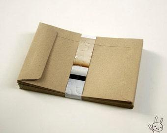 Brown Kraft Paper Envelopes, size 4.5X7inches, for postcard, greeting card, crafts, letterpress, set of 25