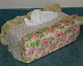 Jesus Fish Ichthus and Roses with Ruffles Standard Tissue Box Cover CWW