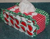 Watermelon and checks Standard Tissue Box Cover CWW