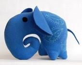 CIJ -15 Elephant felt toy Soft Toy Indigo, cashmere wool