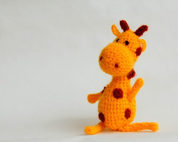 Giraffe Crochet toy soft gift for baby eco fiendly Handmade