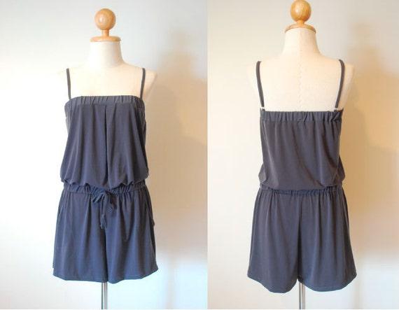 Gorgeous Dark Grey Short Jumpsuit