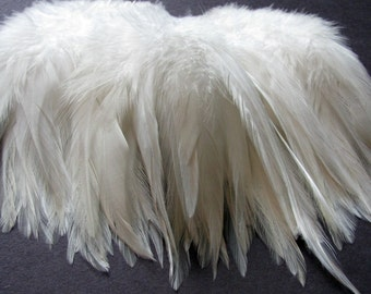 Strung Rooster Saddle Hackle - Natural White