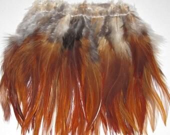 Rooster Saddle Hackle - Natural Brown