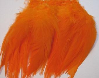 Rooster Saddle Hackle - Orange