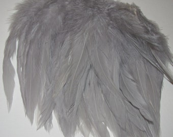Rooster Saddle Hackle - Grey
