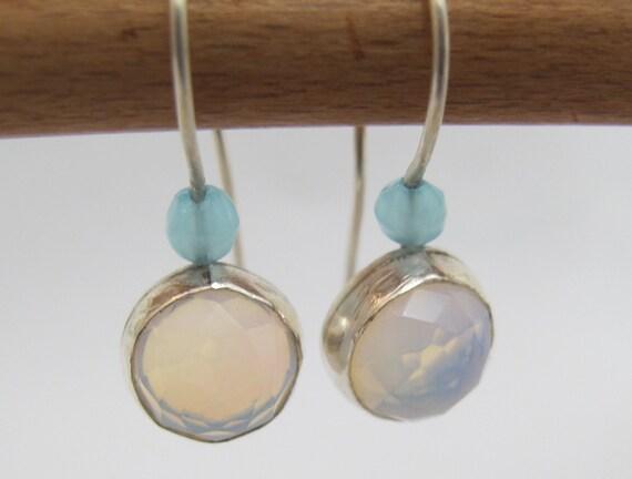 Strling Silver Earrings with Opalite gemstone