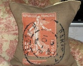 French postage Pillow