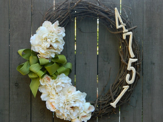 Items Similar To Wreath Door Wreath Floral Wreath