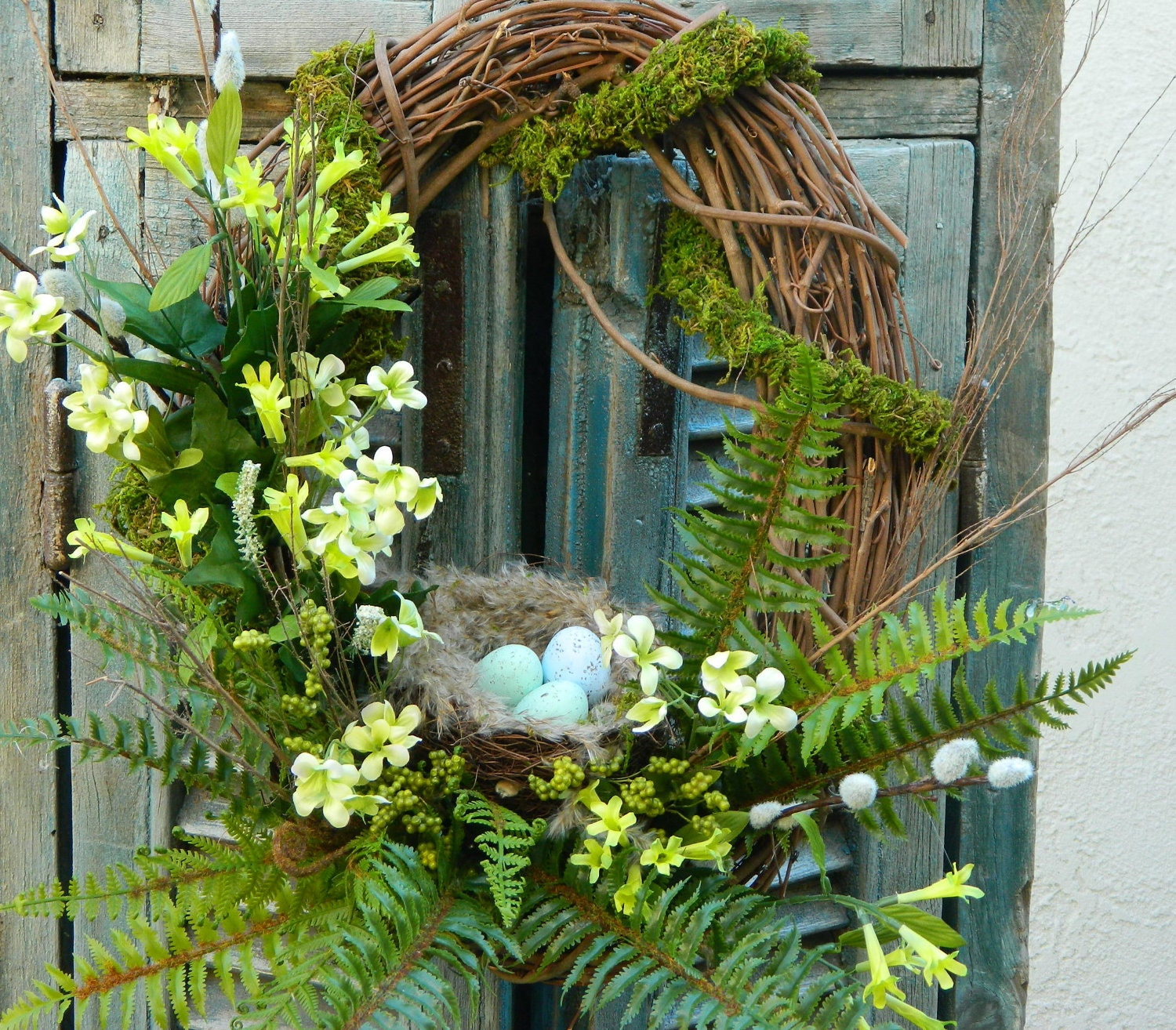 wreath door wreath spring wreath front door by tatteredcottage2
