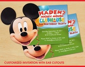 Mickey Mouse Clubhouse Birthday Invitations CUSTOM