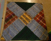 Throw made with handmade fabric from Guatemala