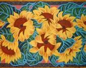 Floorcloth Hand Painted Sunflower Floor cloth