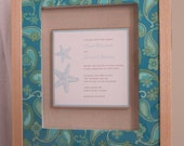 Framed Wedding Invitation in a Shadow Box - MADE TO ORDER