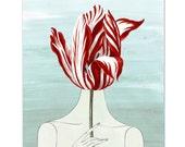 """In the Garden - Original ART Print 8"""" x 10"""""""