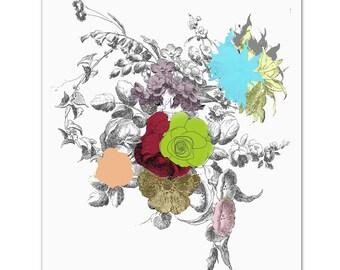 """Bouquet of FLOWERS - Original ART Print 8"""" x 10"""""""