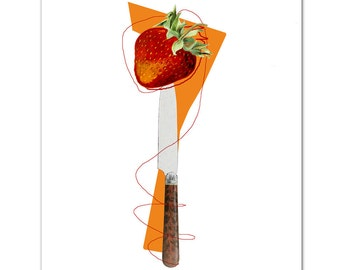 "Sweet Strawberry - ART Print 8"" x 10"""