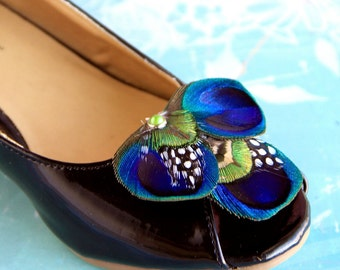 BETH Peacock Shoe Clips, Couture