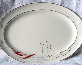 Rare Taylor, Smith & Taylor Red Wheat Platter