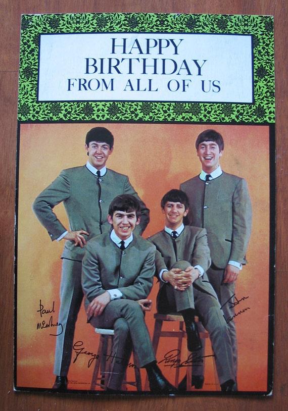 oversized beatles birthday card, Birthday card