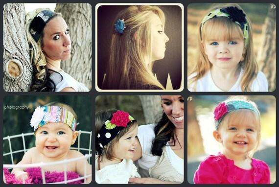 custom order for --- kristel madau --- 2 clips -- 2 soccer headbands