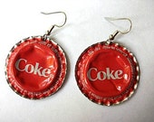 Recycled Coke Bottle Cap earrings