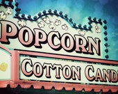 Candy Dream - Popcorn and Cotton Candy Pastel Carnival Sign - Fine Art Photography - 8x12 Print - Alicia Wehby Photography