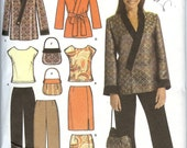 Simplicity pattern 4748 woman's jacket, pant, skirt, top, and purse