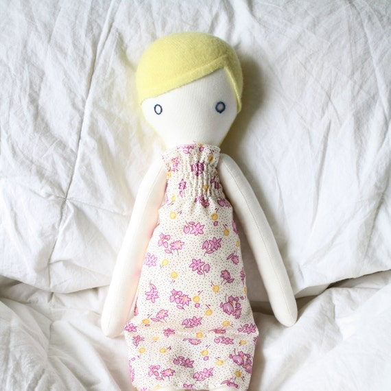 SALE Eco-friendly plush rag doll: Marisol