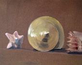 """Still life oil painting on illustration board, 15"""" x 20"""""""