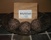 3 Wool Dryer Balls (Brown with Cream Accents)