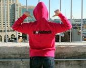 Hollaback Sweatshirt in Black or Pink
