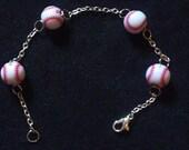 Four Balls Baseball Bracelet