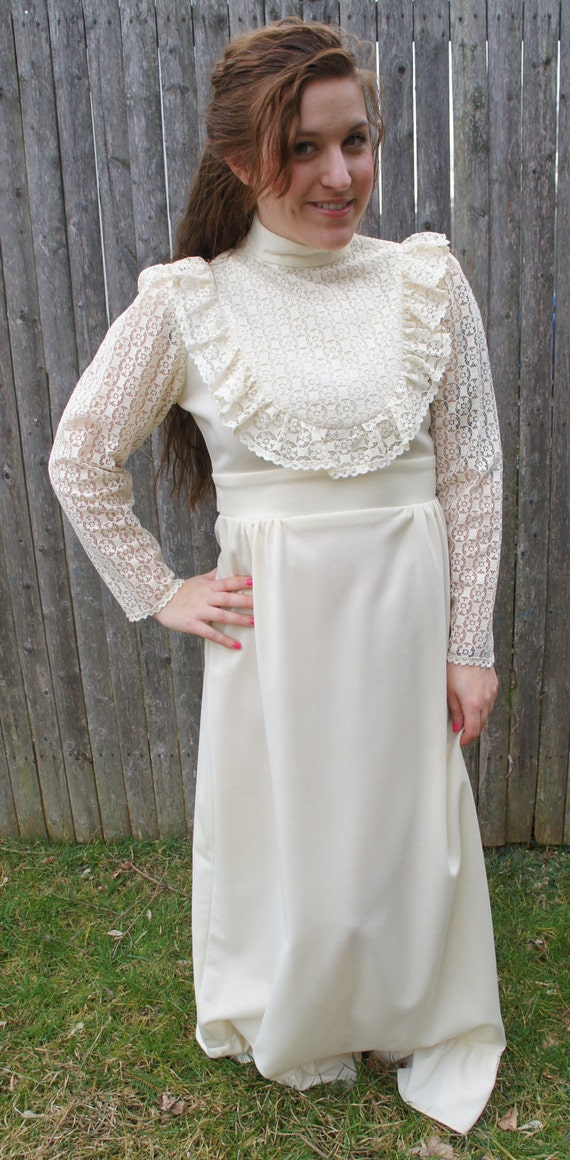 vintage maxi dress, hippie wedding dress