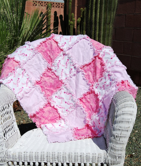 Breast Cancer Awareness Rag Quilt