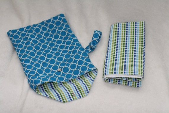Portable Cotton Diaper Caddy with Matching Changing Pad