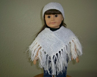 18 inch American Girl Poncho and Hat
