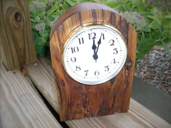 rustic barnwood mantel clock reclaimed oak