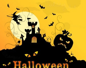 Halloween Clipart, Personal and Commercial Use