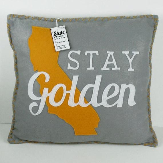 Stay Golden California Eco Felt Pillow