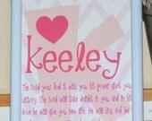 Art Print - Custom Name for a Little Girl