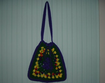 Crcheted Granny Square Tote Bag