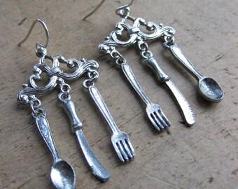 FANCY dinner time earrings