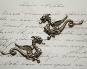 Dragon pair - two beautiful ornaments left and right