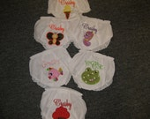 Precious Little girl or baby cotton panties Embroidery embellished