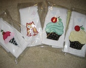 Precious burp cloths for that special baby.  Order one or several.