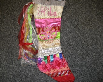 Beautiful custom handmade custom christmas stocking